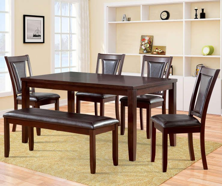 Harlow 6 Piece Padded Dining Set With Bench At Big Lots Dining