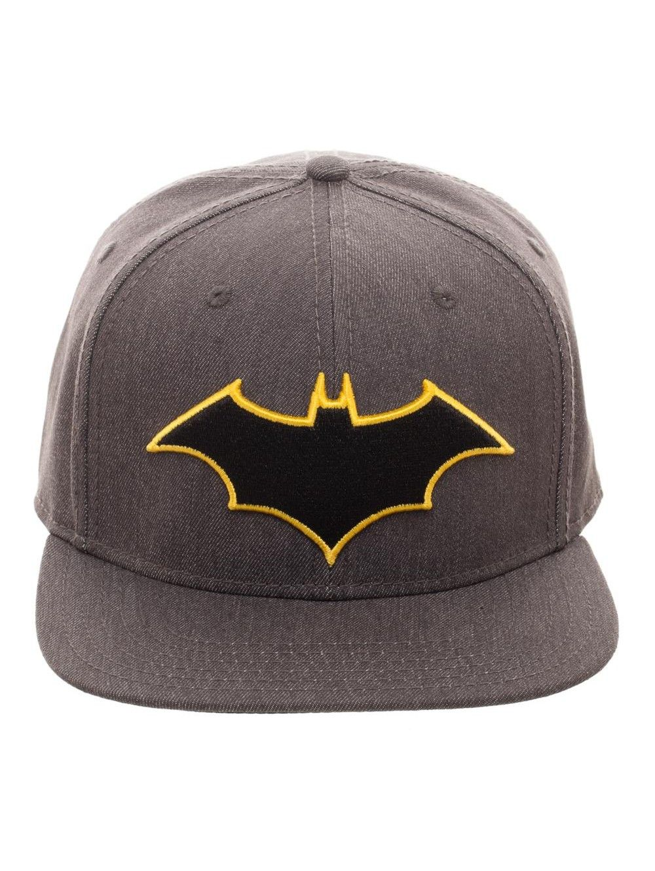 BATMAN LOGO FLATBILL Flex Cap SnapBack Baseball Caps Hats Black (New ... 9adc106e9af