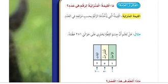 حل مادة كتاب الطالب رياضيات صف ثالث إبتدائي الفصل الدراسي الاول