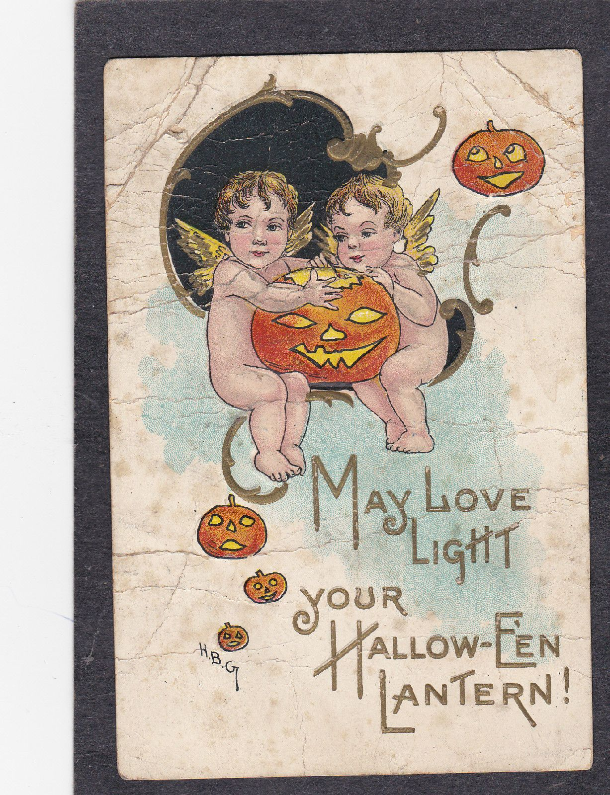may love light your halloween lantern1912 h b g artist halloween postcard ebay
