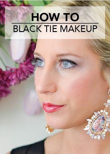 How To Black Tie Makeup Brilliant Bride Black Tie Wedding Guest
