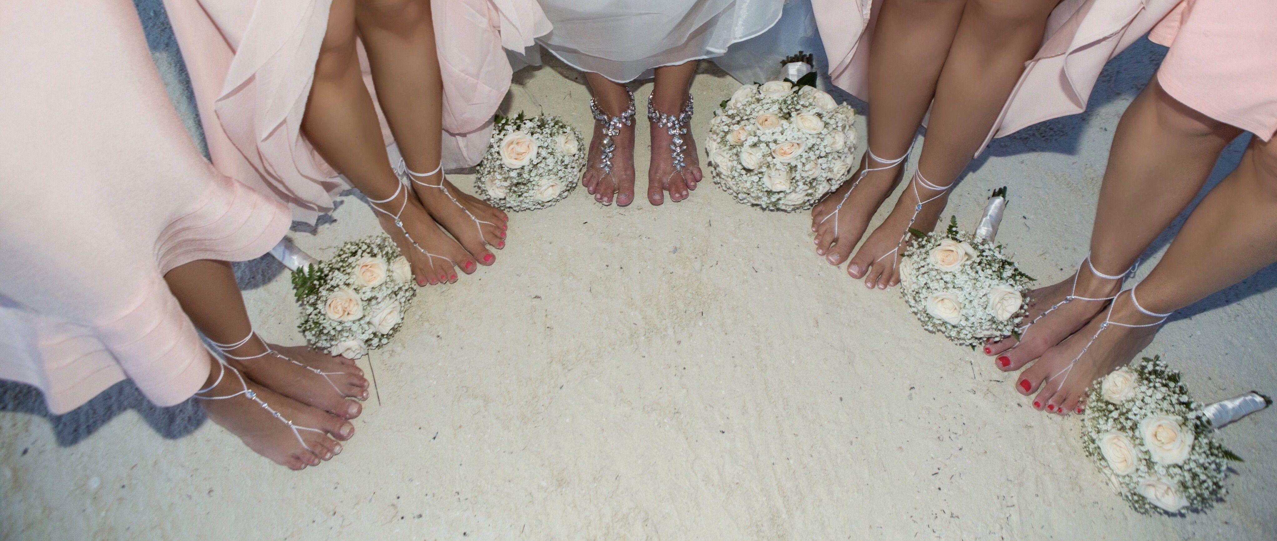 Beach wedding foot jewelry  Barefoot Sandals Bridesmaid Gift Foot Jewelry Beach Wedding
