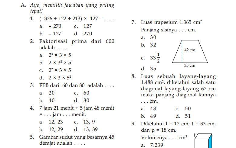 Kunci Jawaban Bahasa Insonesia Ulangan Kenaikan Kelas 10 Dan 2013