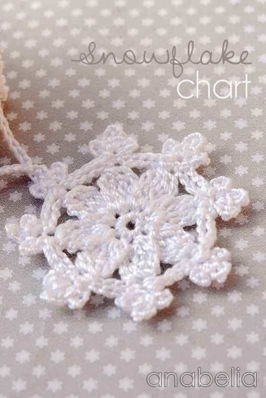 Crochet snowflakes garland by Anabelia... also has some good ...