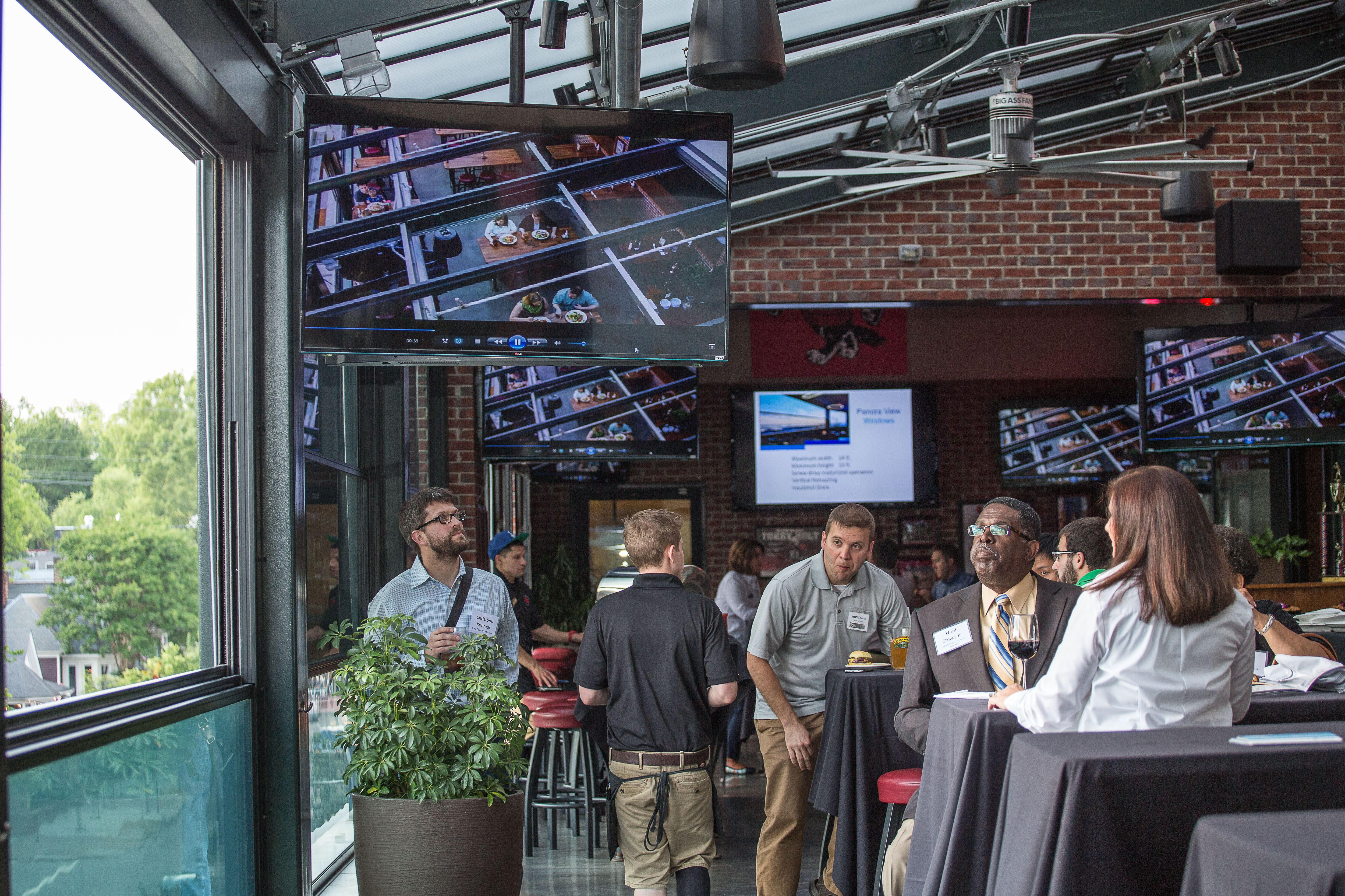 Carolina Ale House Raleigh North Carolina Glenwood Ave Location Fsrs Installed A Libart Solaglide Skylight Retra Solar Screens Retractable Roof Five Star