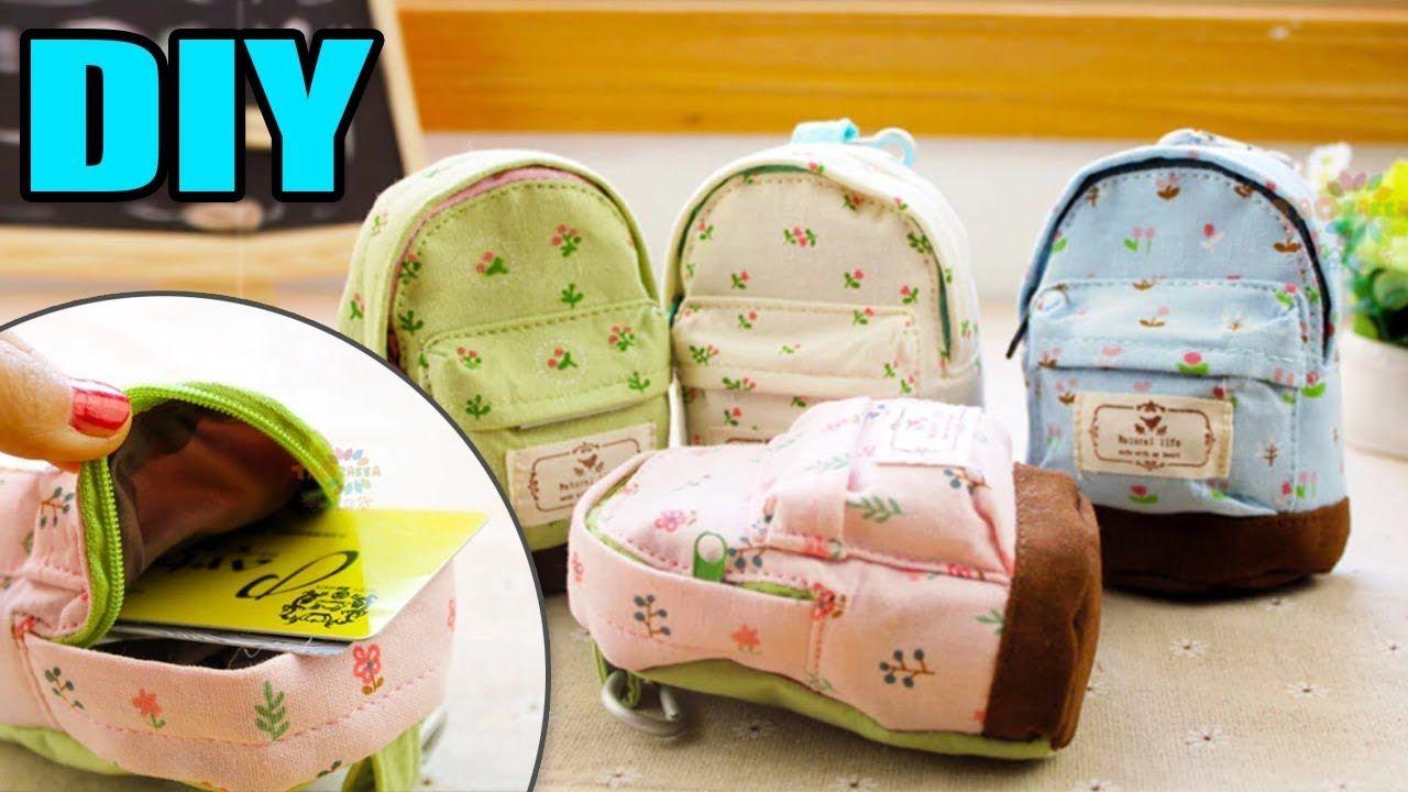 Diy Mini Backpack Wallet Phone Case Tutorial Diy Backpack