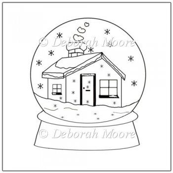 Free Printable Snow Globe Template Snow Globes Coloring Pages