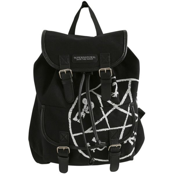 Supernatural Runes Slouch Backpack | Hot Topic (€26) ❤ liked on Polyvore featuring bags, backpacks, accessories, supernatural, knapsack bags, slouchy black bag, black rucksack, snap bags and slouchy backpack