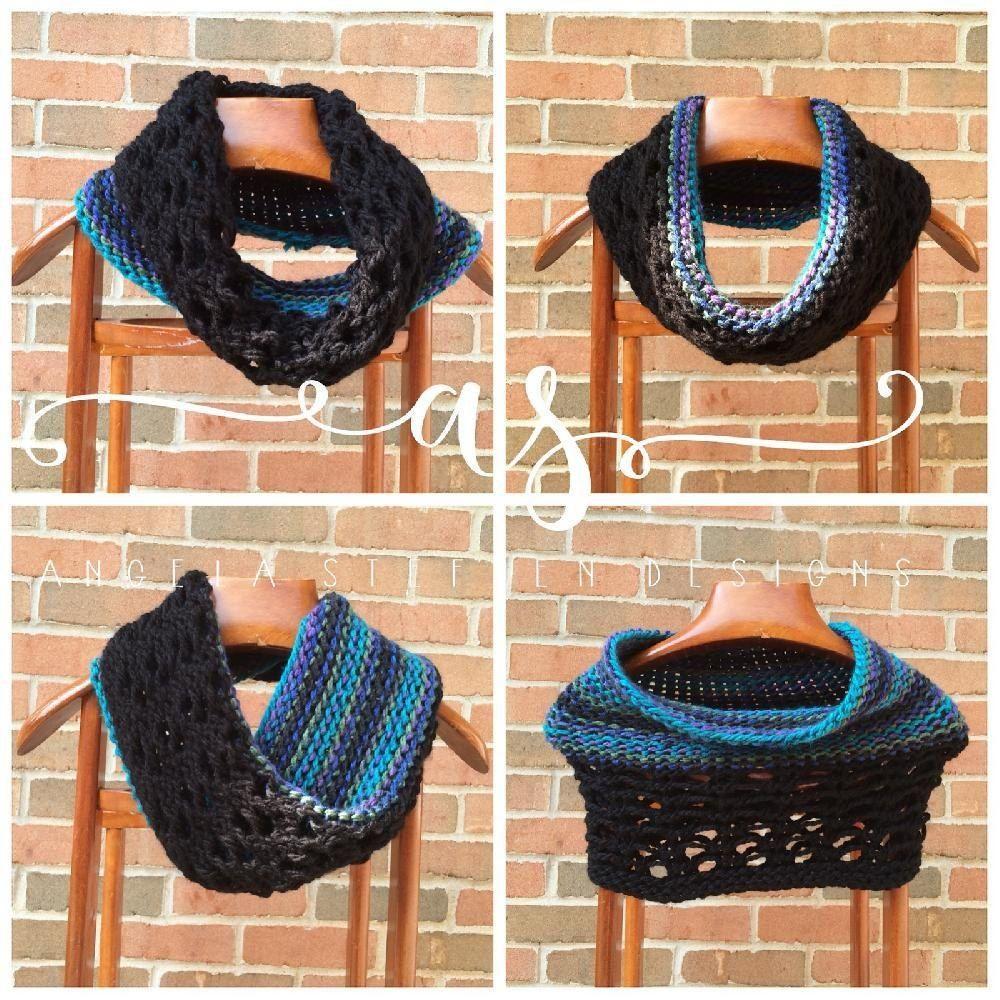 Gemini Cowl | Loom knitting, Loom knitting patterns and Knitting ...
