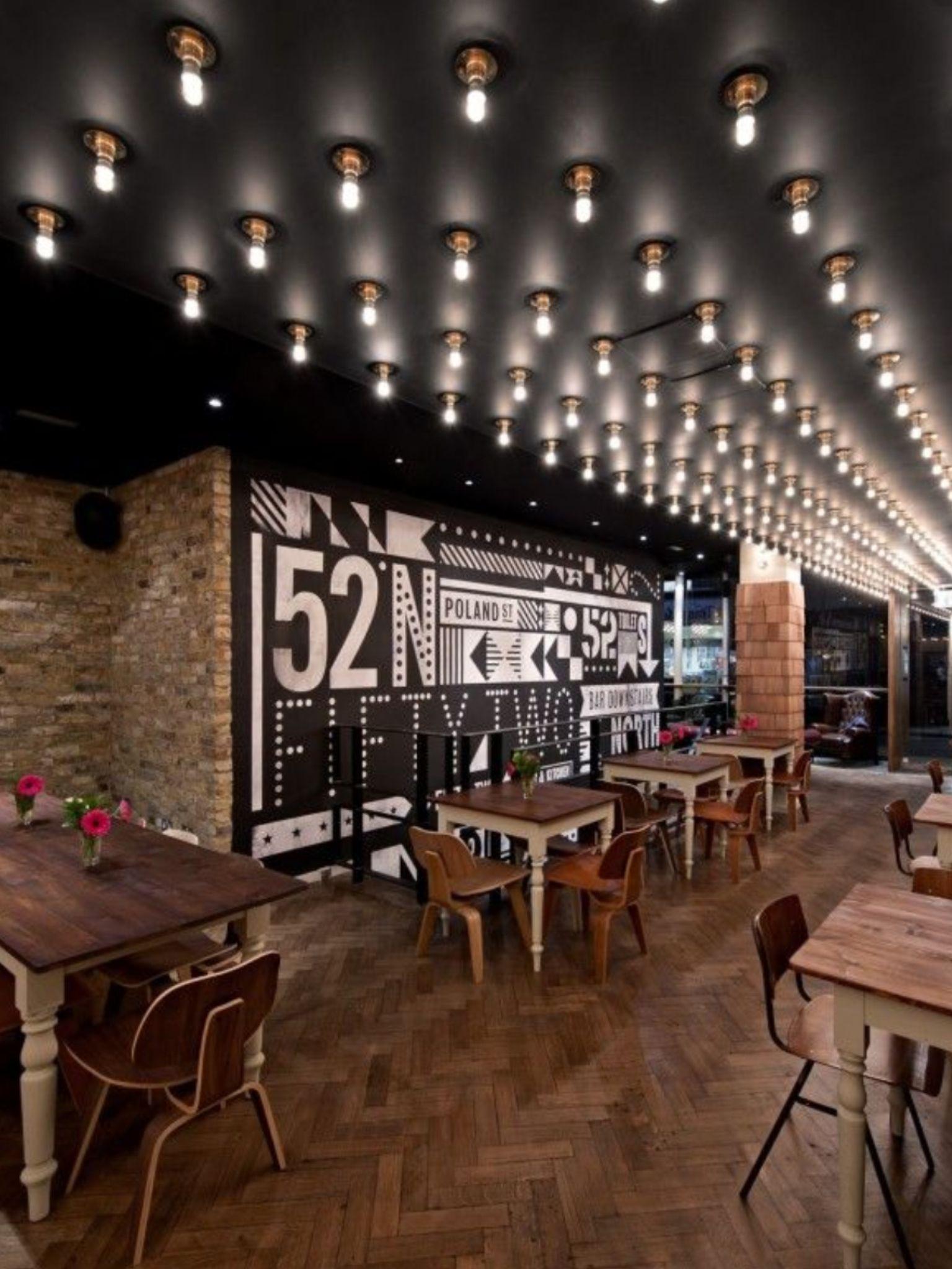Neat Sign Restaurant Interieur Restaurant Interieurontwerp Plafondontwerp