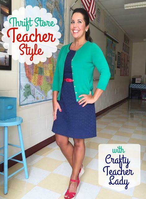 b42e4730e990f Teacher Outfit Ideas on Budget  Tips for building a professional teacher  wardrobe while shopping at thrift stores!
