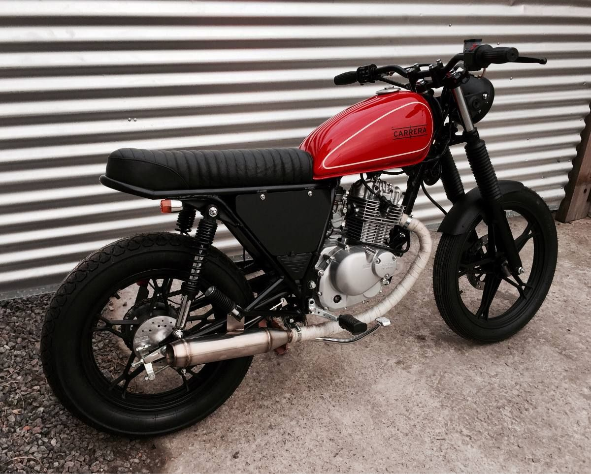 1 suzuki gn 125 cafe racer street tracker custom. Black Bedroom Furniture Sets. Home Design Ideas