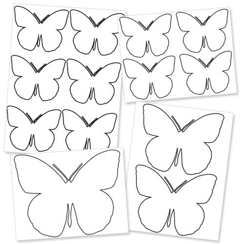 large printable butterfly template free printable butterflys – Butterfly Template