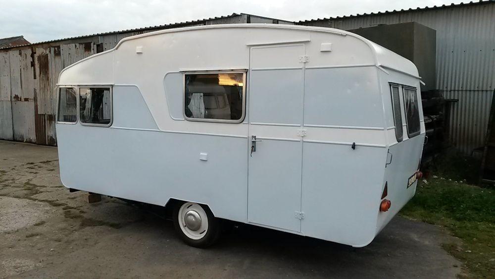 Vintage retro classic old caravan