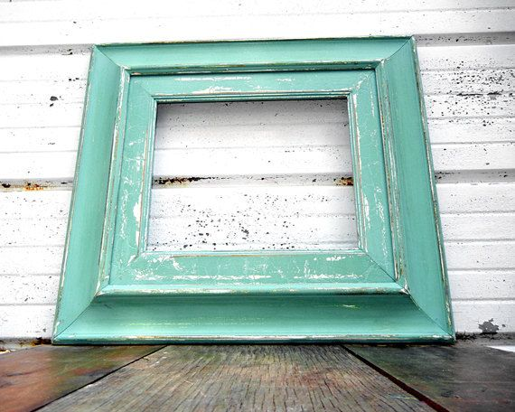 10x12 thick aqua mint frame large wide rustic frame size 10 x 12 4500 - Mint Picture Frames