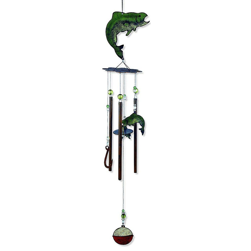 Catch Of The Day Fish Wind Chime 28 Inch Wind Chimes Metal Icon Design