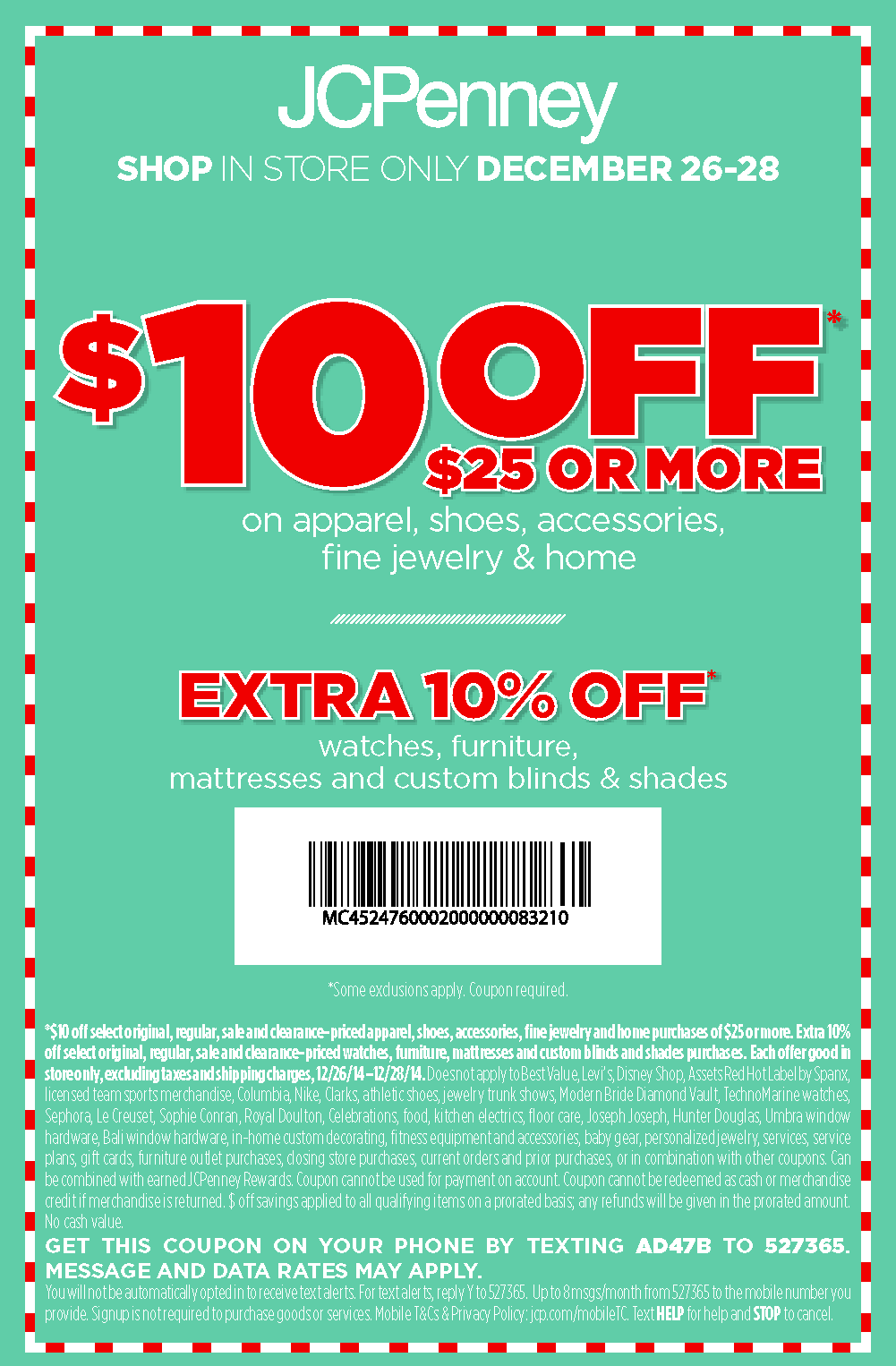 jcpenneys coupons $10 off