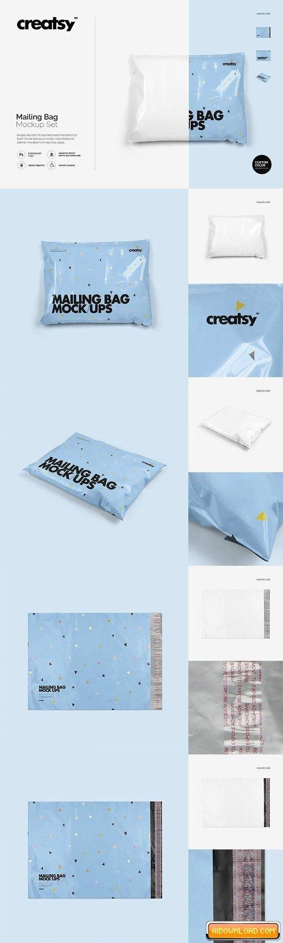 Download Mailing Bag Mockup Set 1935239 Free Download Bag Mockup Mockup Mailing