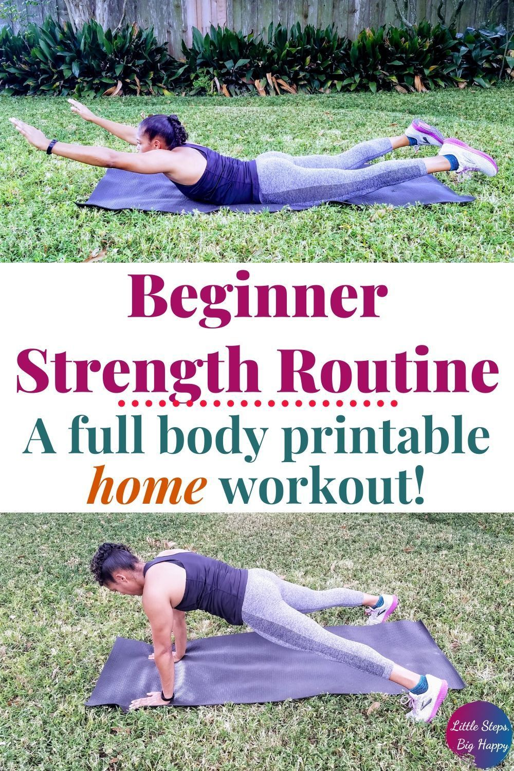 Full Body Beginner Strength Training Workout to Do at Home