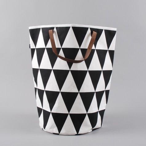 Ferm Living Triangle Laundry Basket Black White