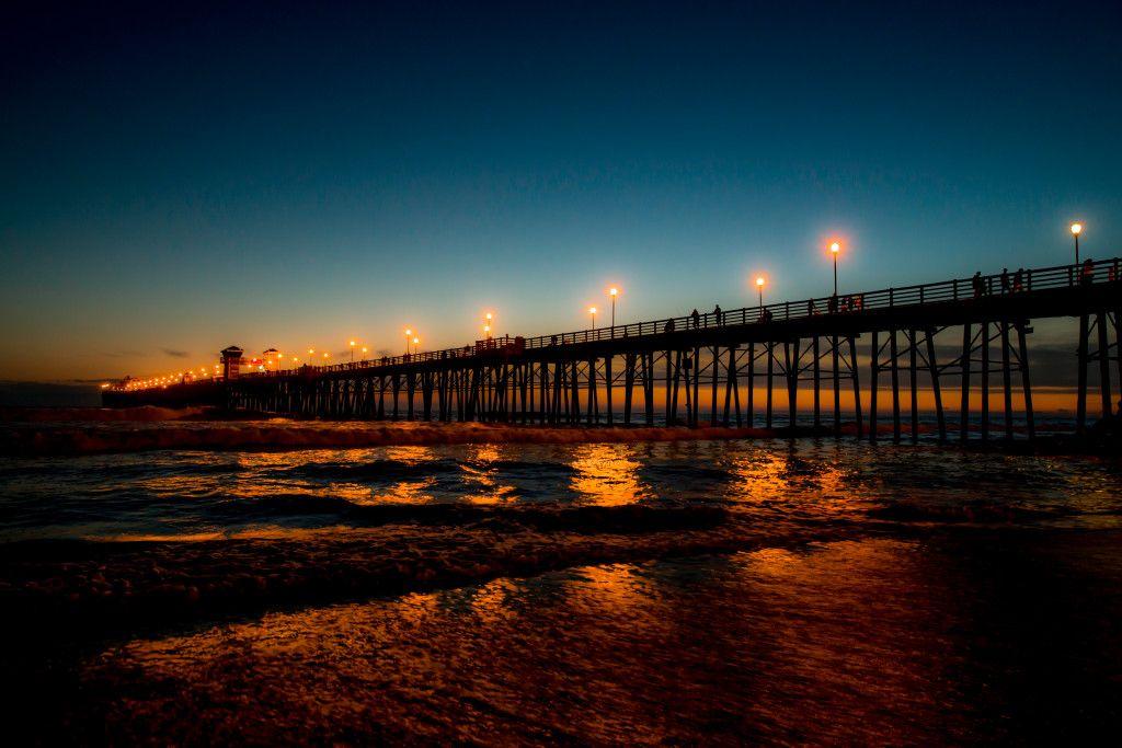 The Oceanside Pier At Night