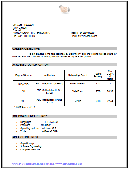 Professional Curriculum Vitae Resume Template For All Job Seekers Example Tem Resume Format For Freshers Downloadable Resume Template Resume Format Download