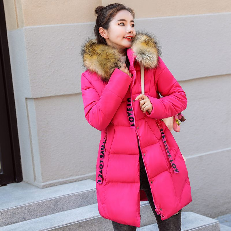 Cheap Parkas  KUYOMENS Winter Long Coat Women 2018 Fashion Autumn Fur  Collar Female Clothes Solid Color Full Sleeved Ladies Hooded Jackets Enjoy  ✓Free ... 48e66435451f