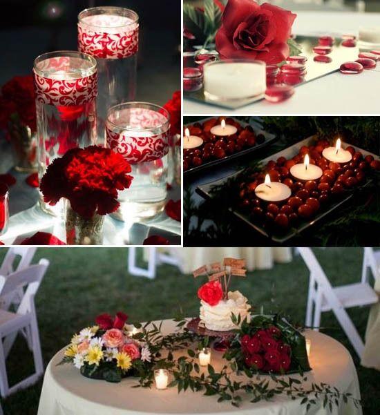 Hochzeit Rot Hochzeitskerzen Tisch Deko Rot Idee Kerzen Table