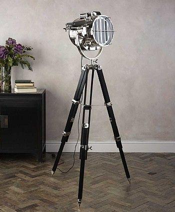 Spotlight Floor Lamp, Tripod Spotlight Floor Lamp The Range