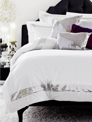 Sequins Silver Quilt Cover Set By Accessories