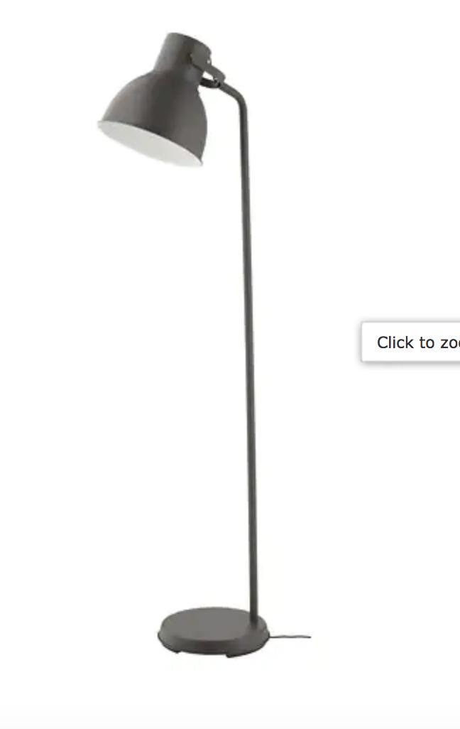 Ikea Hektar Floor Lamp Dark Gray Floor Lamp Ikea