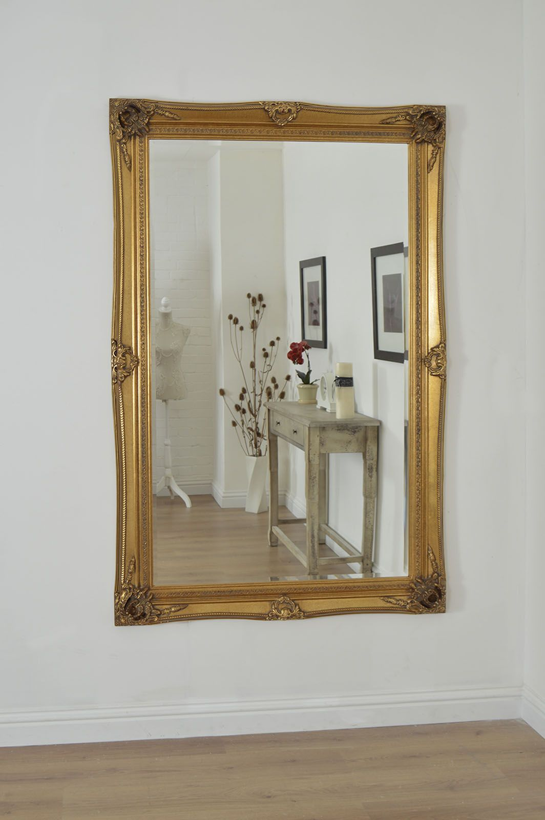 Extravagant Gold Ornate Wall Mirror Is A Beautiful Statement Piece For Any Room From The