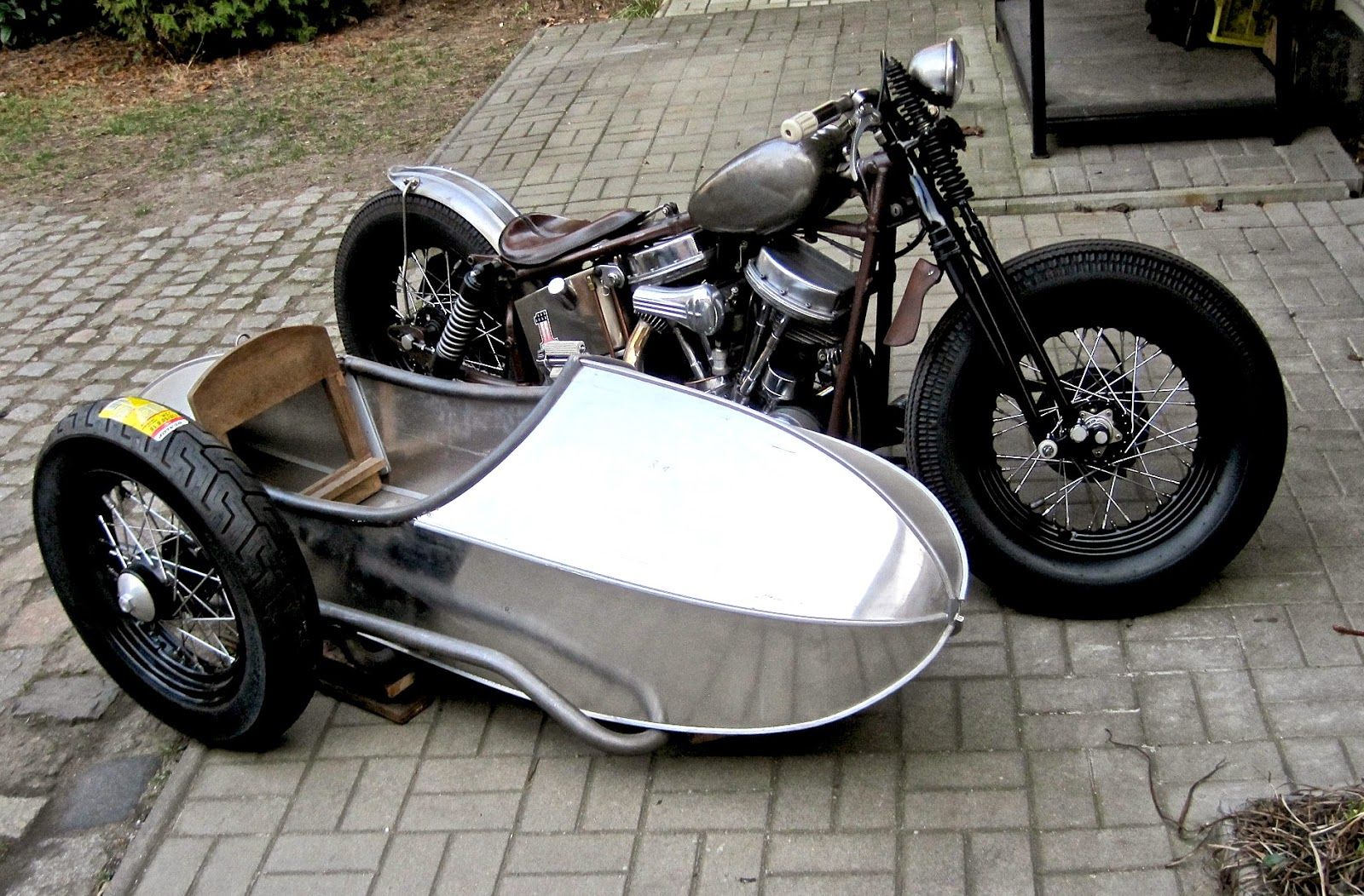 Stoye Custom Sidecars: Stoye Custom Sidecar - Panhead with