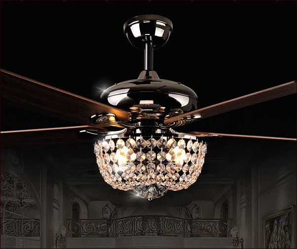 Crystal chandelier ceiling fan combo our home pinterest chandelier ceiling fans ceiling for Ceiling fan or chandelier in master bedroom
