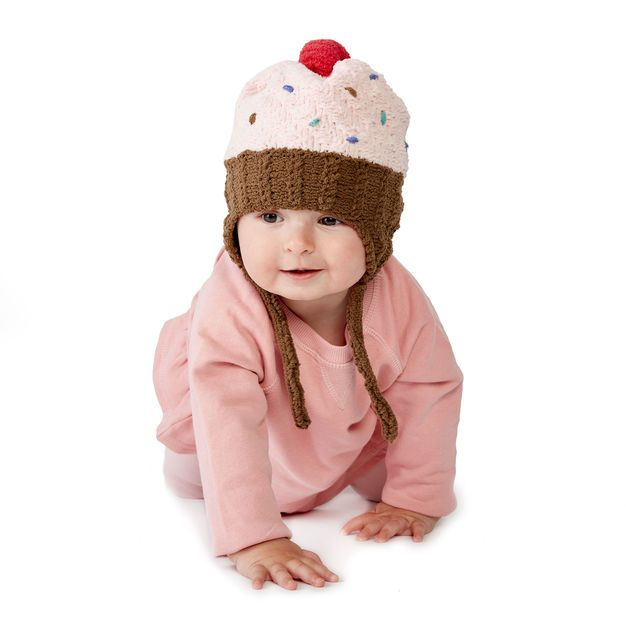 Free Knit Cupcake Hat Pattern 6 12 Mos Red Velvet Cupcake Hat