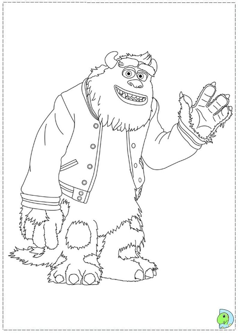 Monster Inc Characters Coloring Pages Monster Coloring Pages Disney Coloring Pages Cartoon Coloring Pages