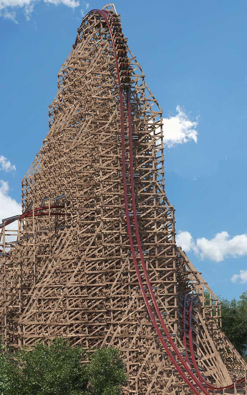 Steel Vengeance Hyper Hybrid Record Breaking Coaster Cedar Point