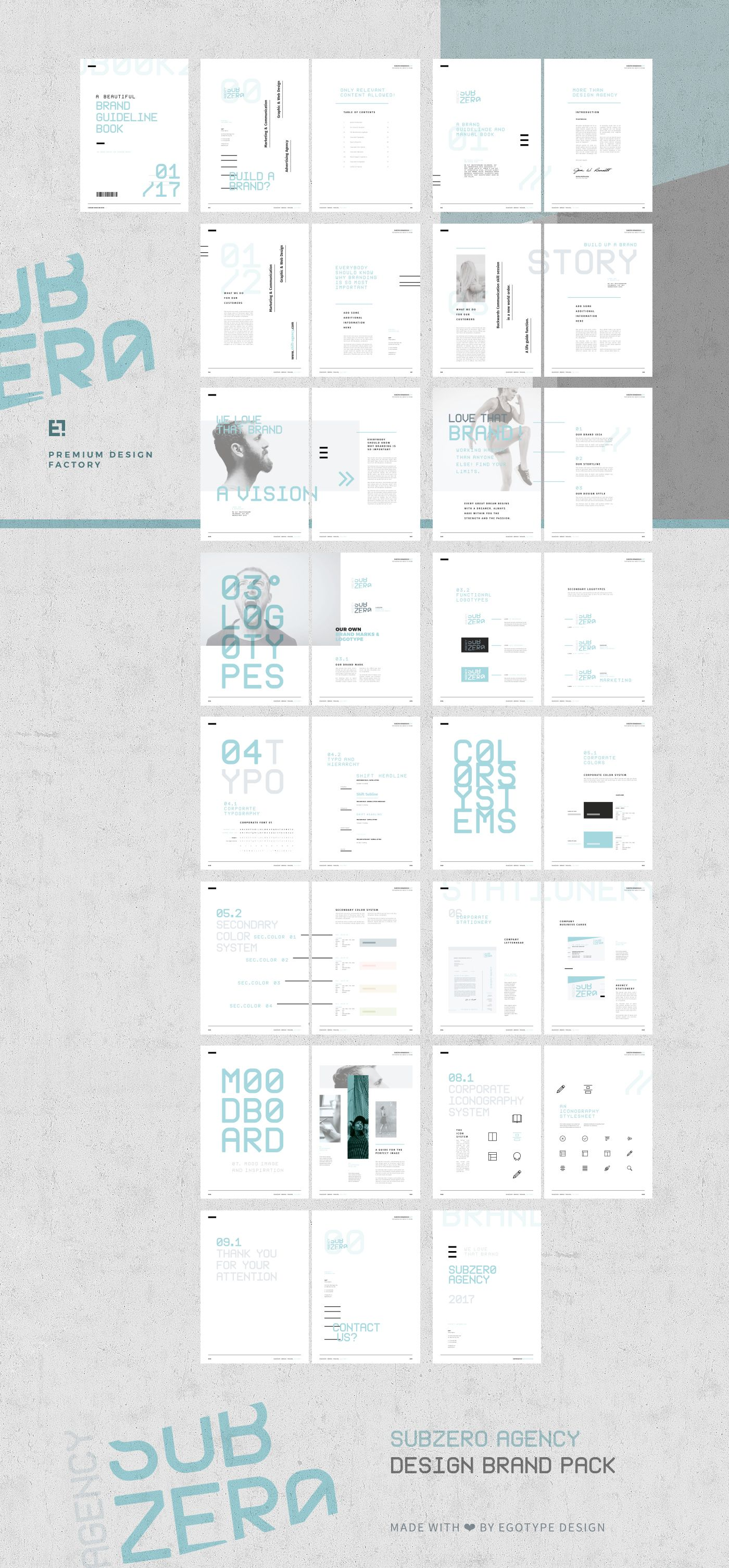 Subzero Brand Manual and GuidelinesThe Subzero template is a 32 page ...