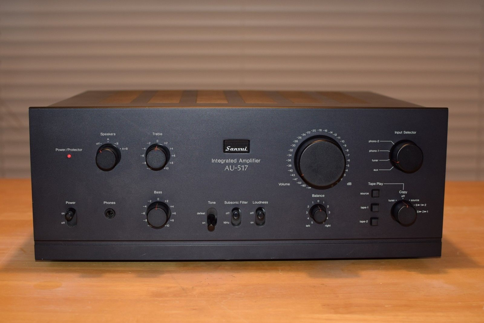 Sansui AU-517 Vintage Stereo Integrated Amplifier | HiFi ... on