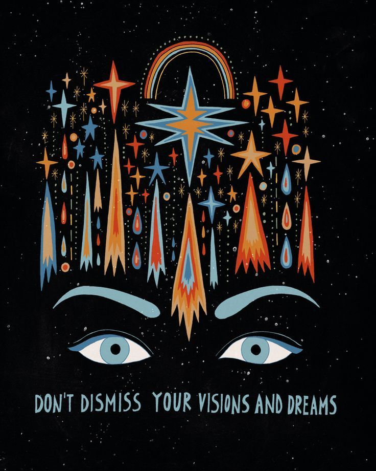 Don't dismiss your visions and dreams Mini Art Print by asjaboros