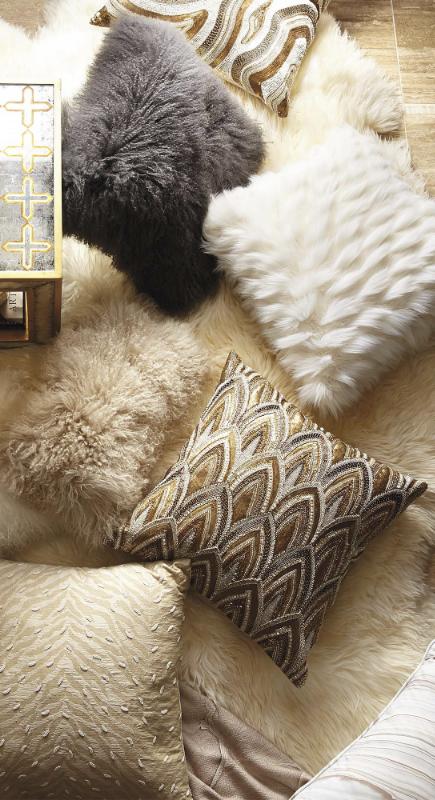 Our Shaggy Chic Tibetan Sheepskin Pillow Invigorates Your
