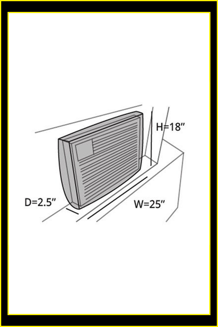 Covermates – Air Conditioner Cover – 25W x 2.5D x 18HÂ