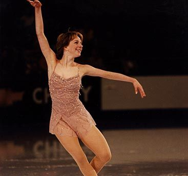 Sarah wore this dress for her long program at the 2002 US Nationals, where she qualified to compete at the 2002 Olympics.