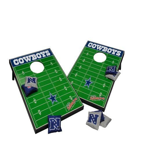 Dallas Cornhole Set Football Tailgating Acessory 2x3 MDF All Weather  Portable Includes 8 Bags * Want