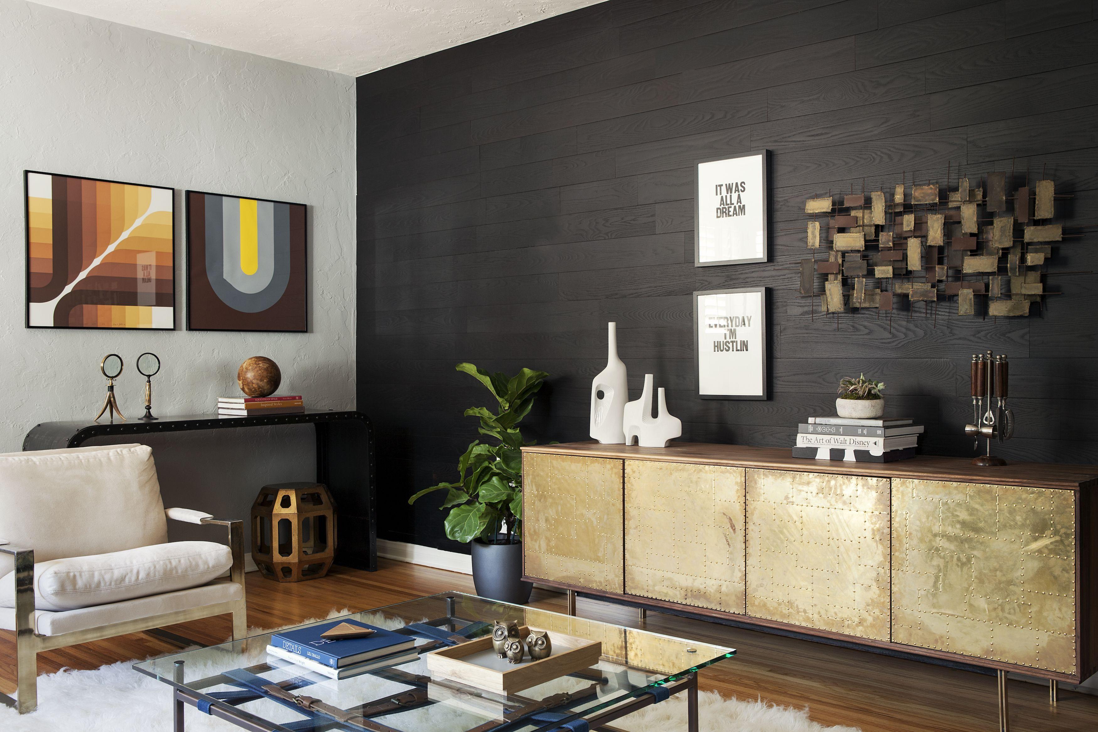 Charcoal Stick On Wood Wall Home Stik