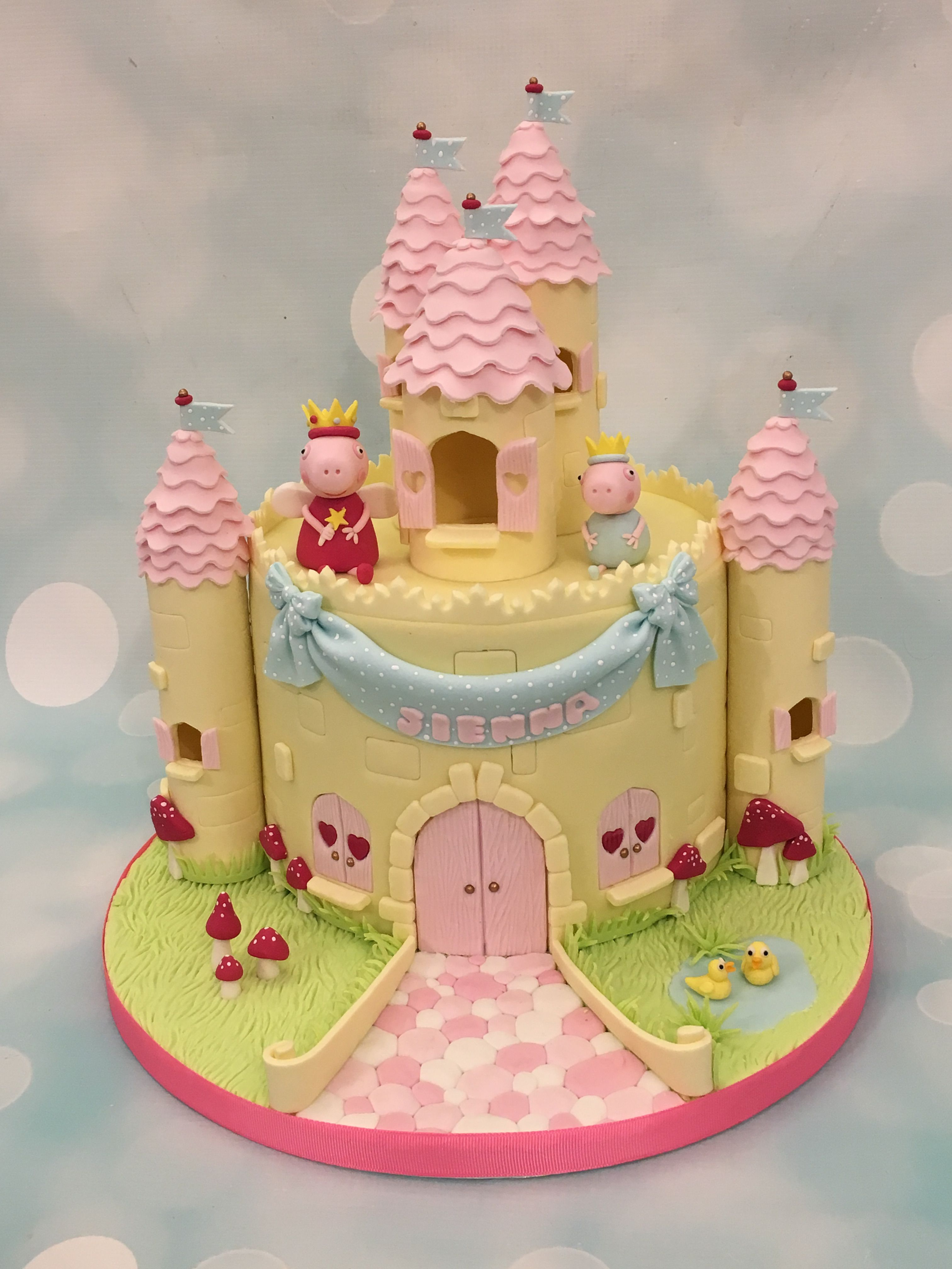Cool Peppa Pig Castle Cake Pig Birthday Cakes Peppa Pig Birthday Funny Birthday Cards Online Elaedamsfinfo