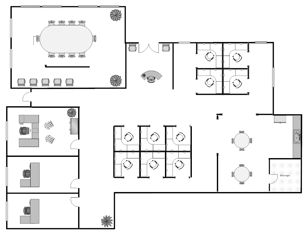 Visio office floor plan template for Office floor plan samples