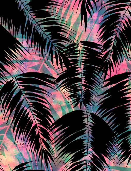 Maui Palm Black A Art Print By Schatzibrown Tropical Palm Simple Cool Background Patterns