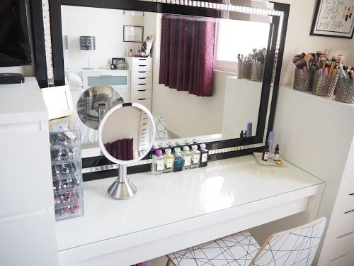 My Make Up Storage Vanity Bedroom Tour With Images Vanity Ikea Malm