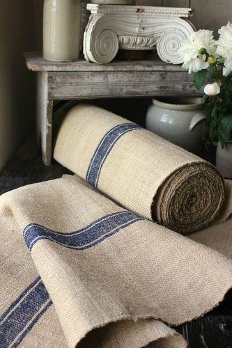 Antique Vintage STAIR / TABLE RUNNER HEMP Rug Per/ 1 YD Carpet Navy Blue